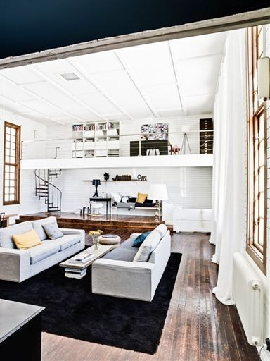 Imagine This As A Bedroom With The Office Above Where It Is Now But The Bed Below Home Interior Design Home Loft Design