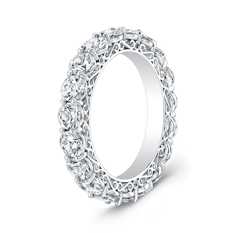 Ladies Platinum Diamond Eternity Infinity Wedding Band 1 00 Ctw G Vs2 Diamond Quality Eternity Ring Diamond Eternity Ring Diamond Eternity