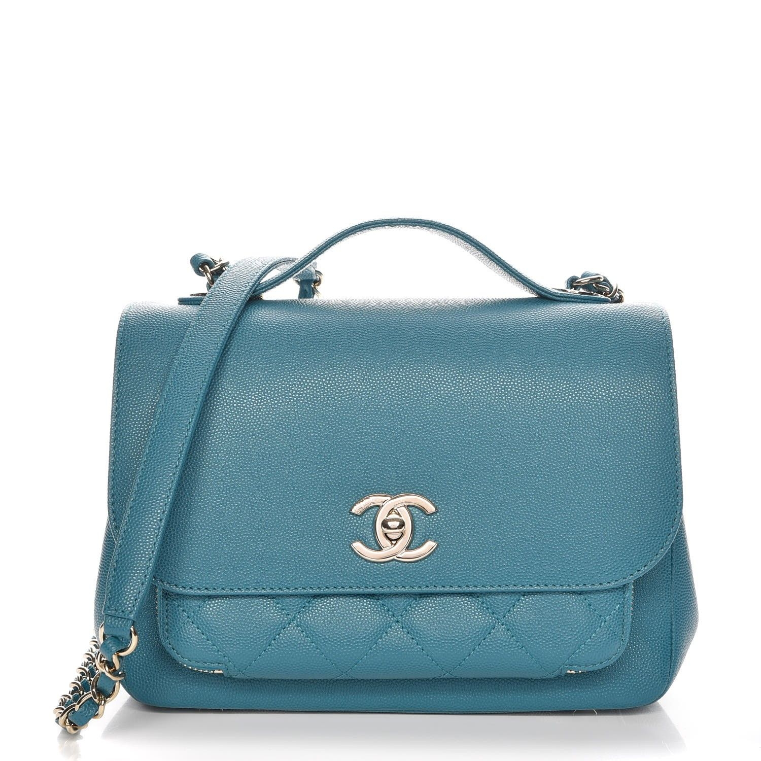 8dc46ac48f87 This is an authentic CHANEL Caviar Quilted Small Business Affinity Flap in  Green. This sleek