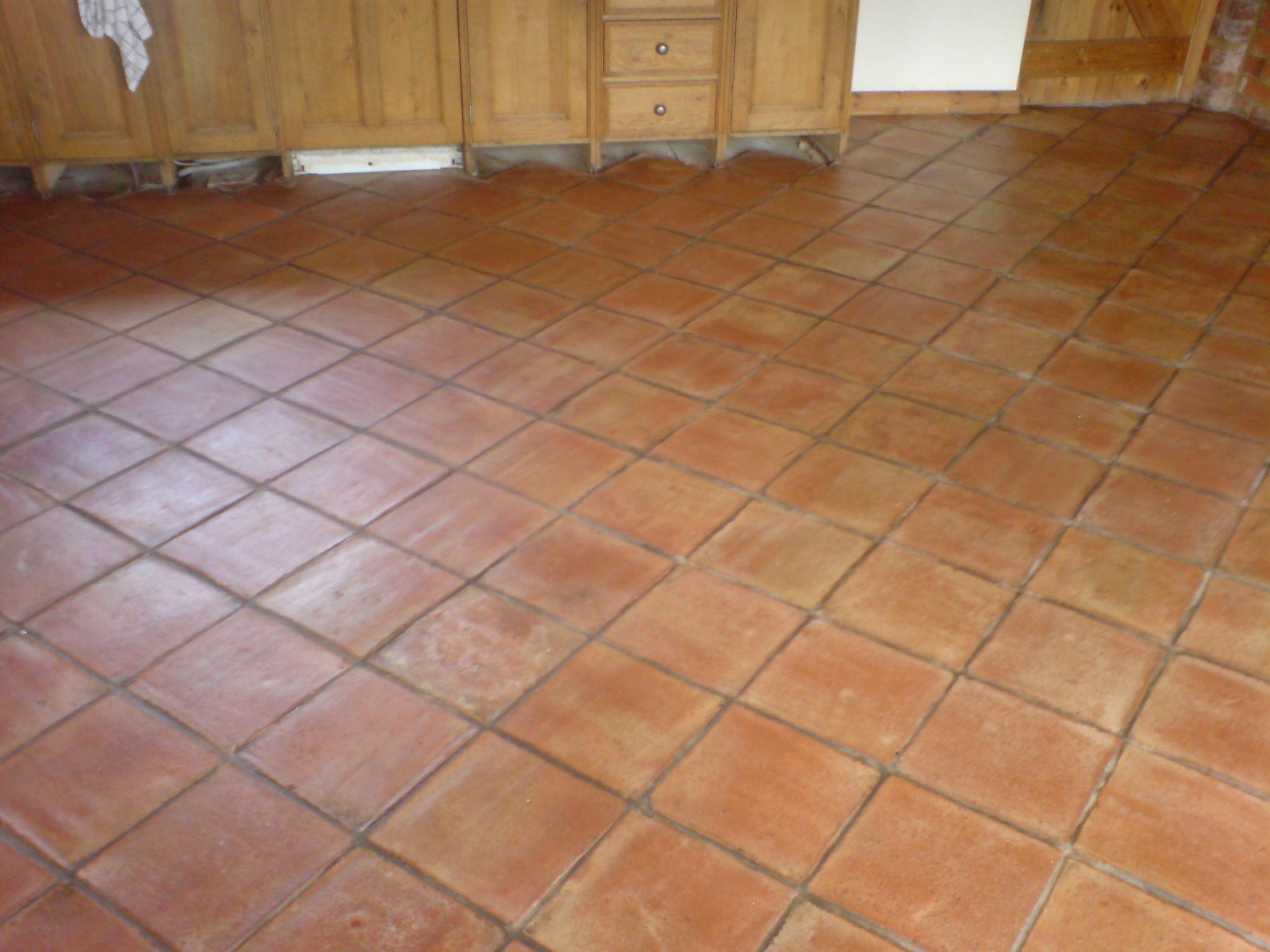 Terracotta Floor Tile Restoration And Renovation Kitchen Floor