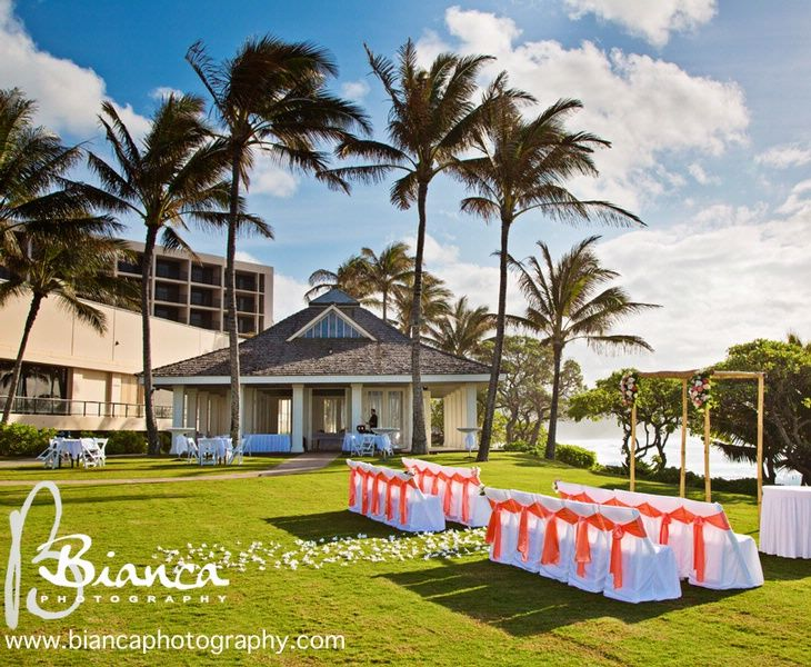 Ceremony Near Our Kuilima Point With The Reception In Seaside Chapel Hawaii Wedding