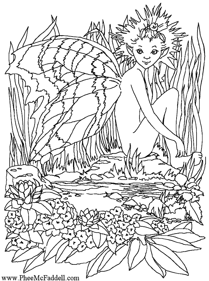 Little Lavender Fairy www.pheemcfaddell.com | Coloring Pages-Fantasy ...