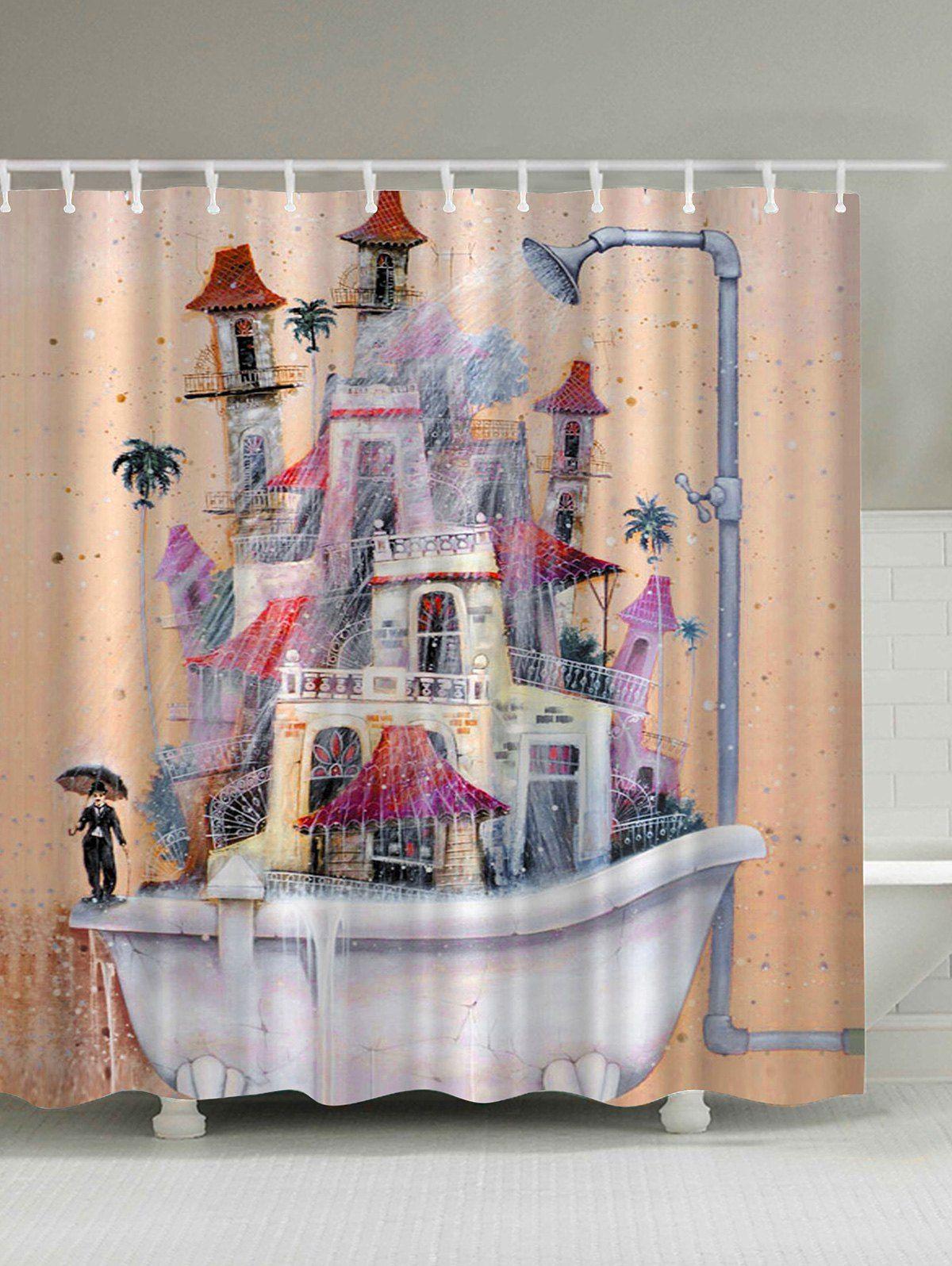 Waterproof dramatic house bathtub shower curtain bathtubs bathtub