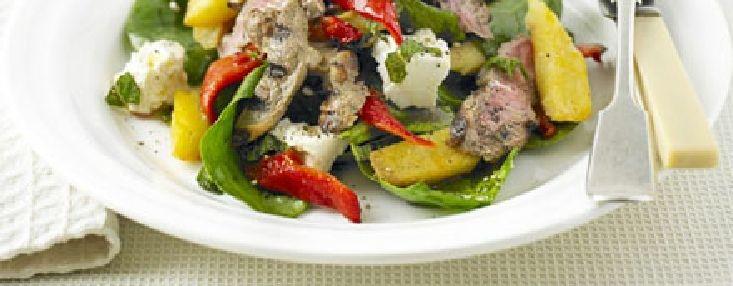 Low FODMAP Recipe - Lamb, feta & mint salad | Leftover ...