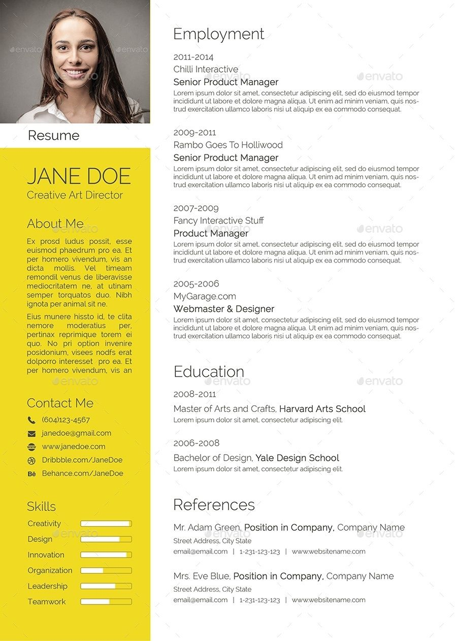 Colorful Flat Resume Set Resume, Flat color, Modern cv