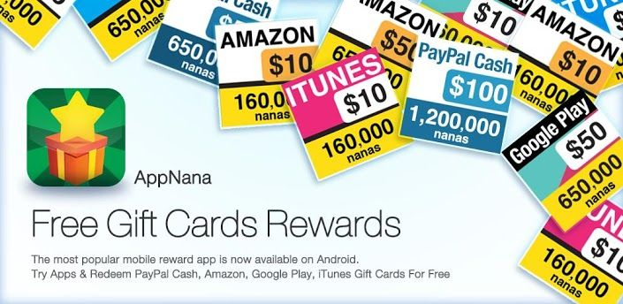 AppNana-Free Cash & Gift Cards my code is df4590081 invite