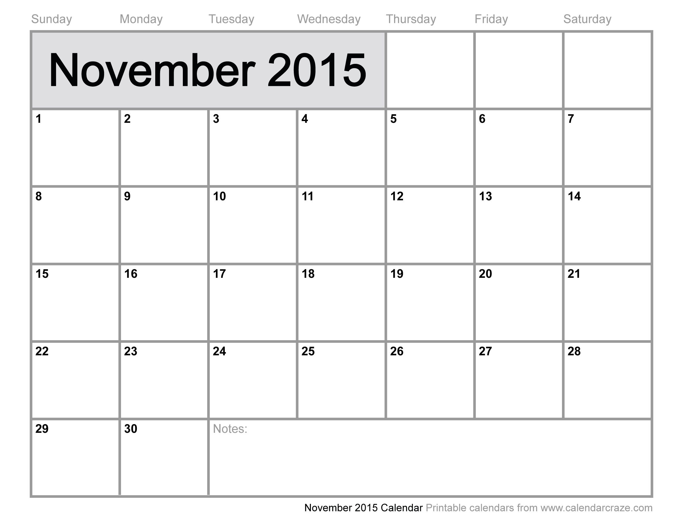 Feel Free to Download November 2015 Calendar Page and November ...