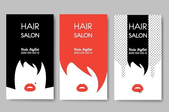 Hair salon business cards business cards business and unique hair salon business cards creativework247 reheart Image collections