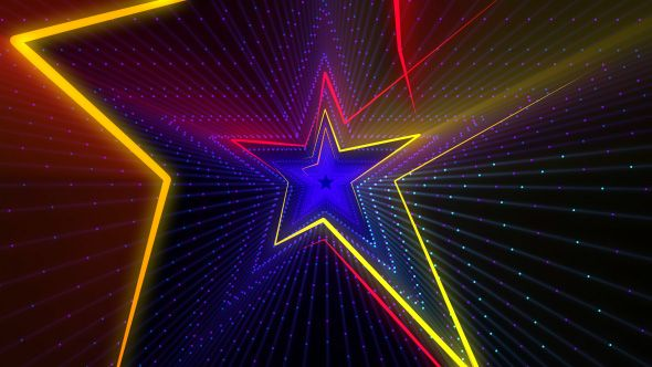 disco star lights 4k
