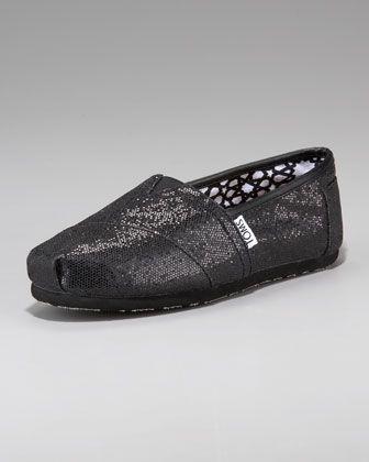 478f24bcdb3b Glitter Slip-On Black | Style | Shoes, Glitter shoes, Women's loafer ...