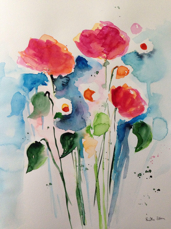 Pin Von Anabela Freitas Auf Aguarela Blumen Aquarell