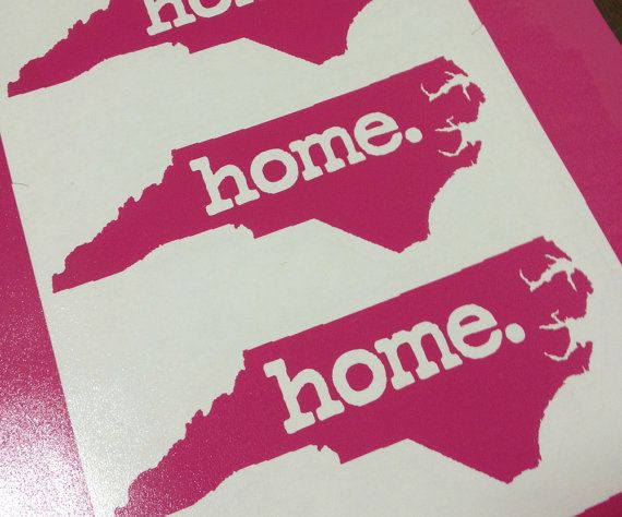 NC Home  Vinyl car decal | Cricut ideas | Car decals, Vinyl