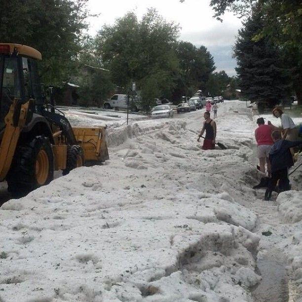 Denver News Flooding: Crazy Knee-deep Hail, Denver CO, Sept 9, 2013
