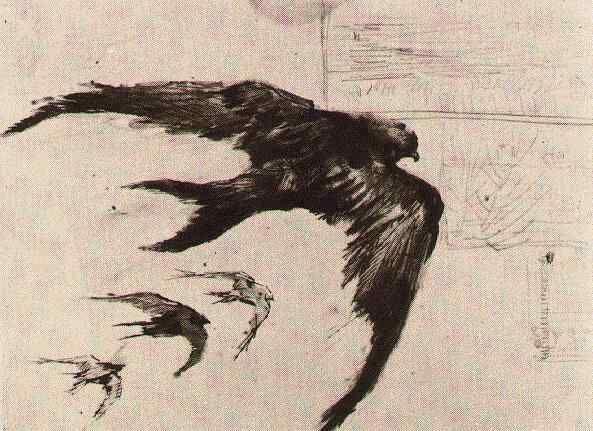 Four Swifts with Landscape Sketches  Paris: April-September, 1887 (Amsterdam, Van Gogh Museum)