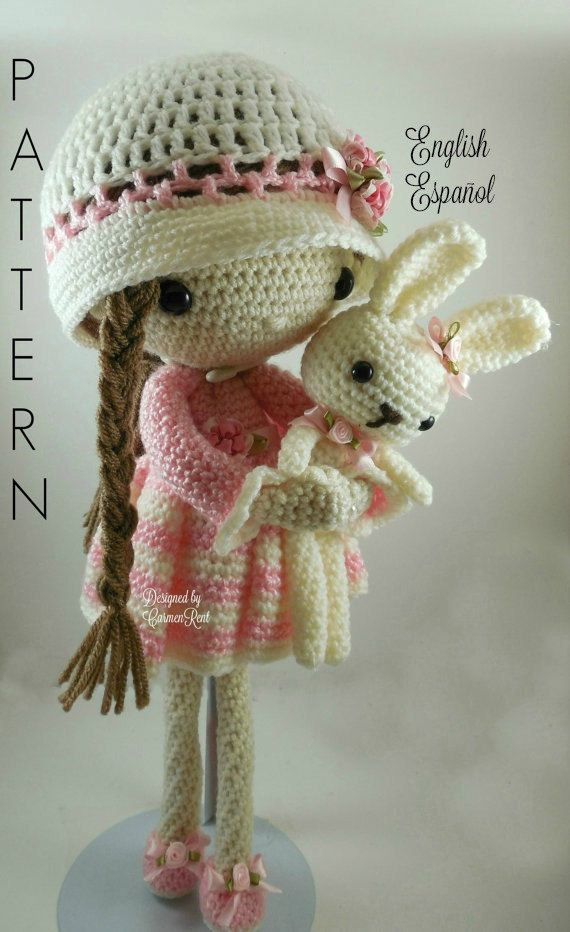 April and her Rabbit- Amigurumi Doll Crochet Pattern PDF | Zahlung ...