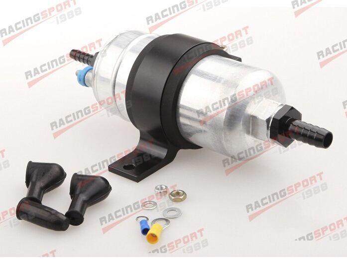 External Fuel Pump 044 Black Billet Bracket 1 2 Inlet 5 16