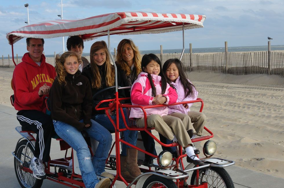 Bike Rentals In Ocean City Maryland Located At 6 Caroline Street