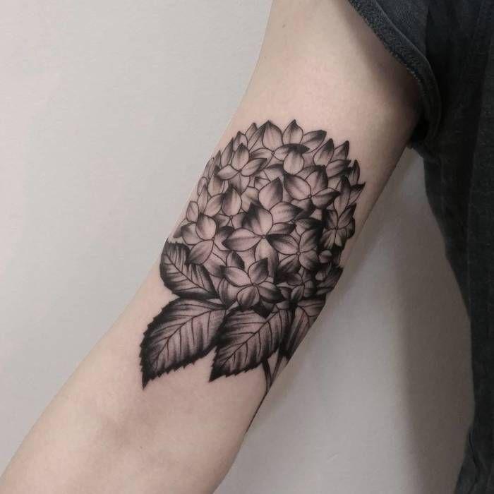 20 Splendid Hydrangea Tattoo Designs | Floral Tattoos | Hydrangea ...