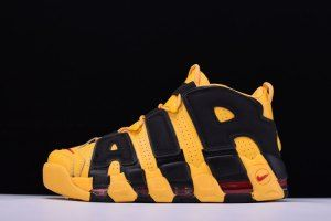 hot sale online c6598 77a71 Nike Air More Uptempo Bruce Lee Gorgeous Yellow Black Red 414962 700 Mens  Running Shoes