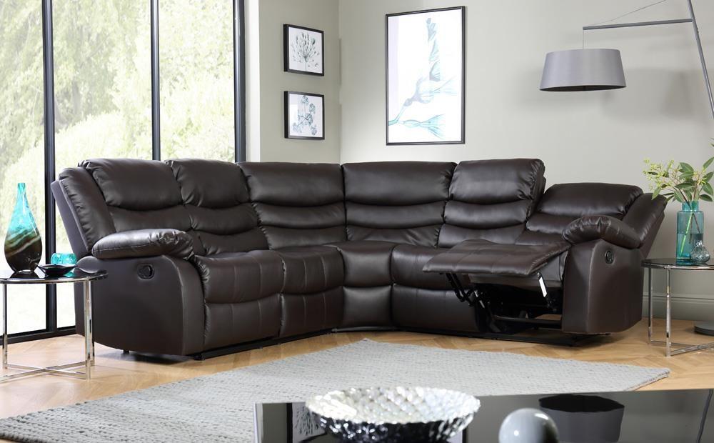 Sorrento Leather Recliner Corner Sofa - Brown in 2019 ...