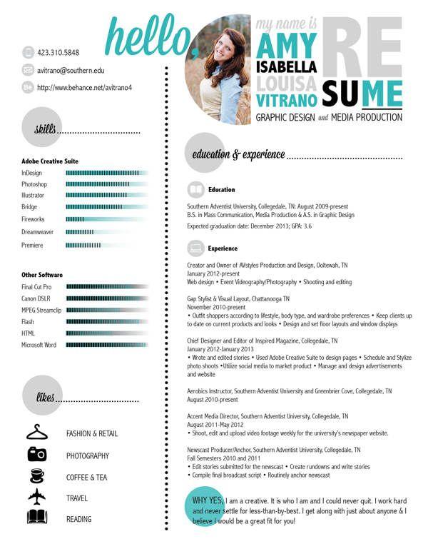 14 stunning examples of creative cv resume behance cv design