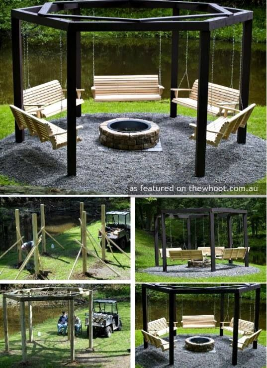 97632b2bd0644644f997e116eb265382 Ranch Home Backyard Ideas Pergola With Fire Pit on