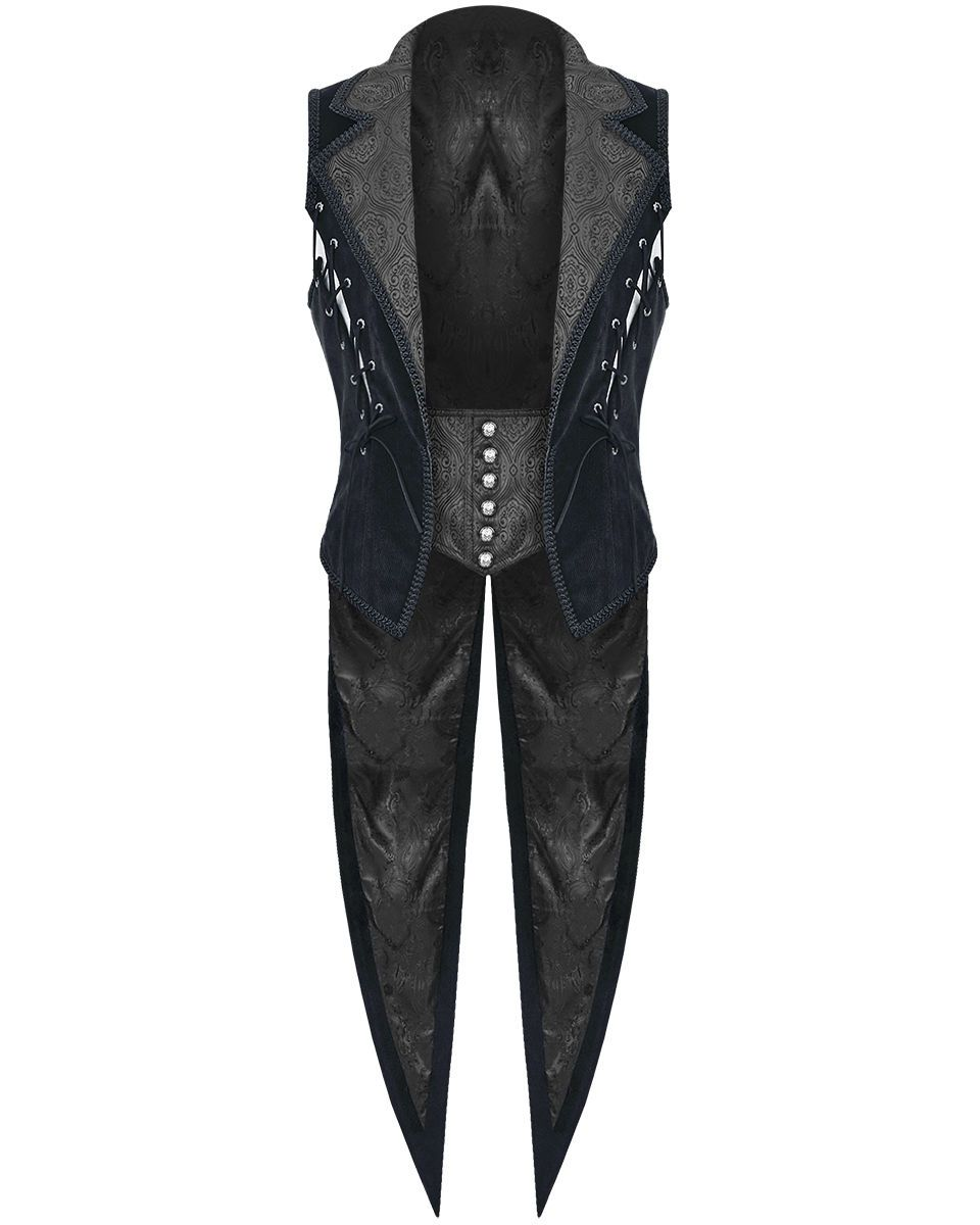 Men/'s Damask Waistcoat Brocade Vest Waistcoat Victorian Steampunk Gothic//USA