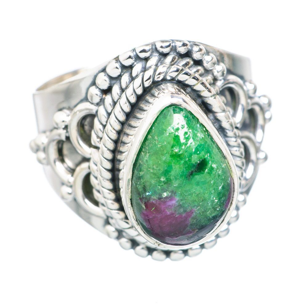 Ruby Zoisite 925 Sterling Silver Ring Size 5.5 RING741404