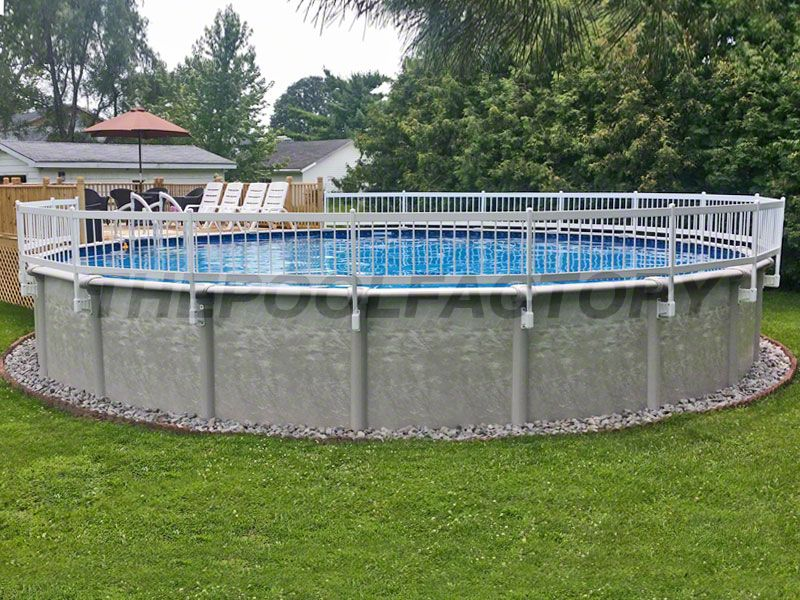 Add a fence kit to your aboveground pool to provide extra