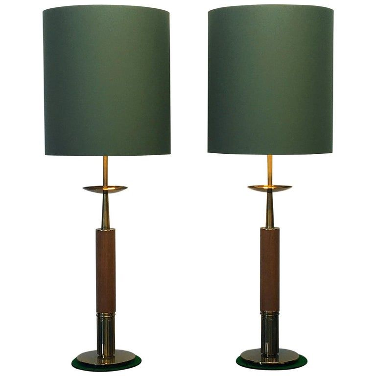 Pair Of Stiffel Table Lamps 1960s The Lamp Company American Mid Century Modern Brass Mid Century Table Lamp Vintage Table Lamp Mid Century Modern Table Lamps