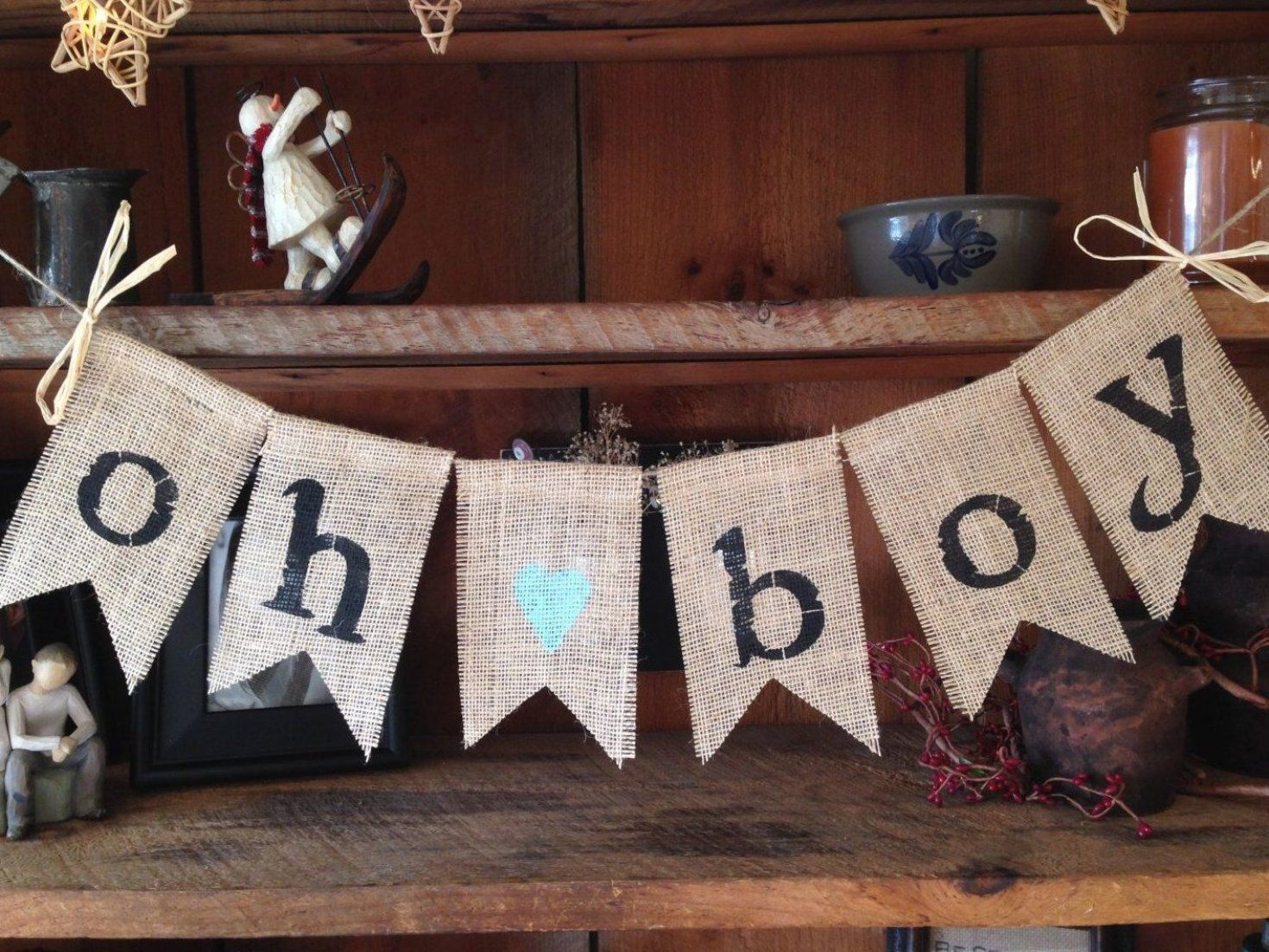 Baby Shower Banner Boy Baby Shower Banner Boy Burlap Baby Country Baby Shower