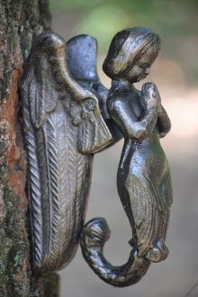 Winged Mermaid Cast Iron Door Knocker