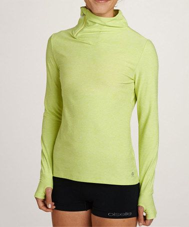 Another great find on #zulily! Fresh Green Zip Turtleneck Top by Oiselle #zulilyfinds