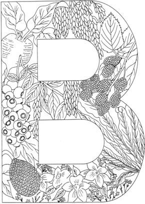 Letter B With Plants Coloring Page From English Alphabet With Plants Category Select From 24652 Printable Crafts Of Cuadernos De Dibujo Manualidades Pinturas