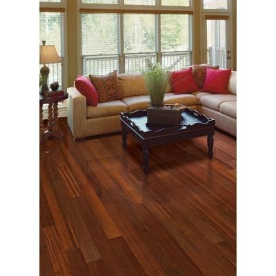Home Legend Brazilian Cherry 3 8 In Thick X 5 Wide 47 1 4 Length Click Lock Hardwood Flooring 23 96 Sq Ft Case Hl505h The Depot