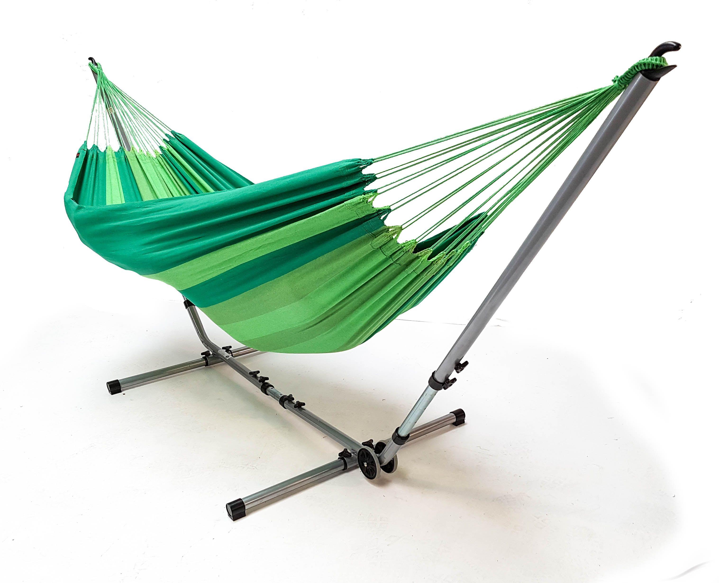 Aanbieding Hangmat Met Standaard.Hangmat Medium Greens Met Universal Deluxe Standaard Set