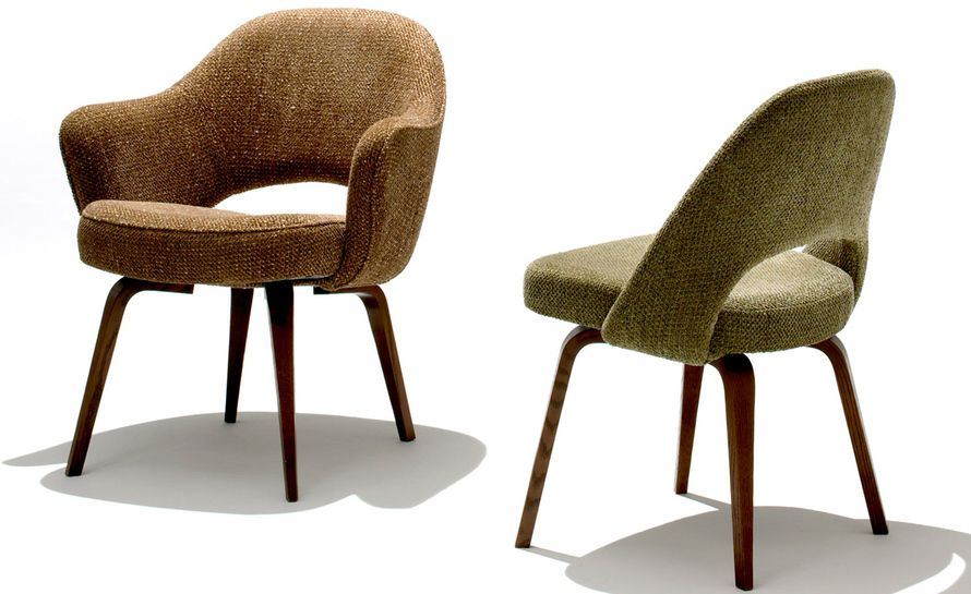 Saarinen Executive Arm Chair With Wood Legs Knoll Chairs Chair