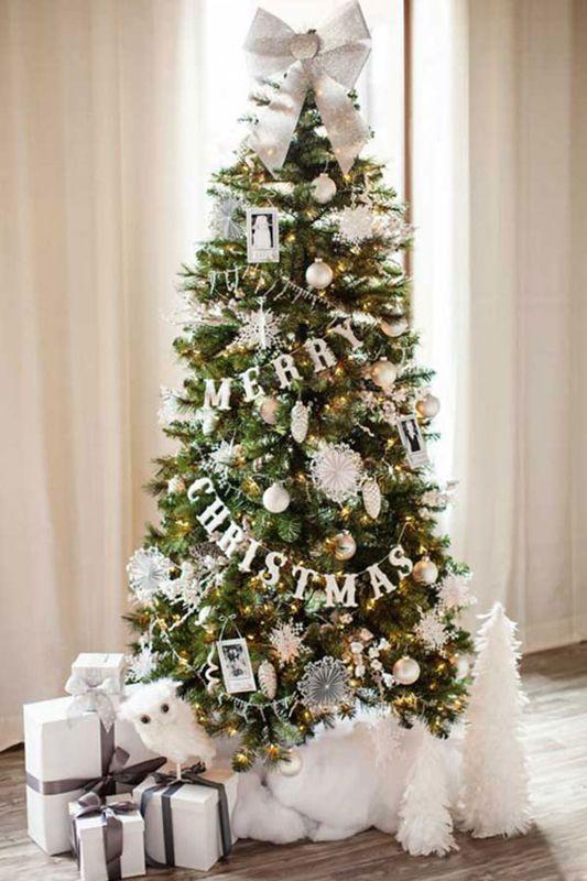 Addobbi Natalizi Bianchi.Addobbi Natalizi Idee Last Minute Ghirlanda Albero Natale Idee Per L Albero Di Natale Natale Dorato