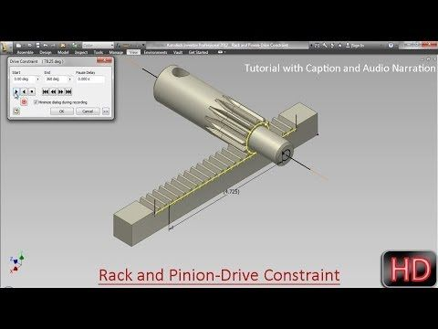 Excellent Rack And Pinion Drive Constraint Video Tutorial With Download Free Architecture Designs Lukepmadebymaigaardcom