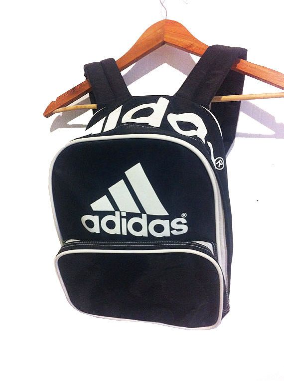91ec119ae2 vintage 90s CLASSIC ADIDAS logo small BACKPACK by PRINCEGOODS Adidas  Backpack