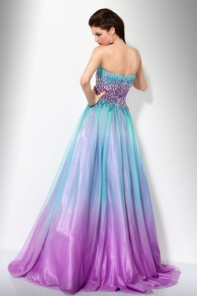 Purple Ombre Wedding Dress View Of The Jovani Aqua Purple