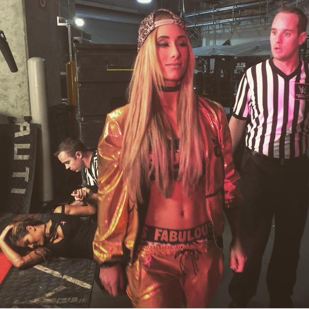 @carmellawwe felt fabulous after what she did to @thenikkibella... #SDLive