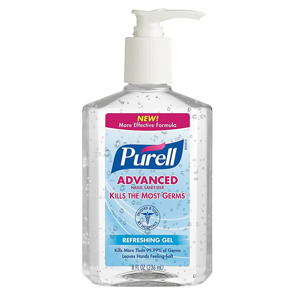 Purell Instant Hand Sanitizer 8 Oz Carton Of 12 Bottles Hand