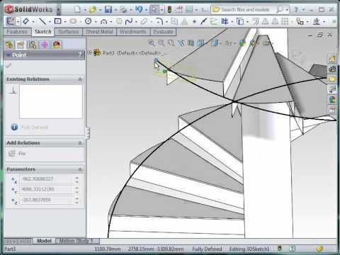 Best Spiral Stairs In Sw Solidworks 400 x 300