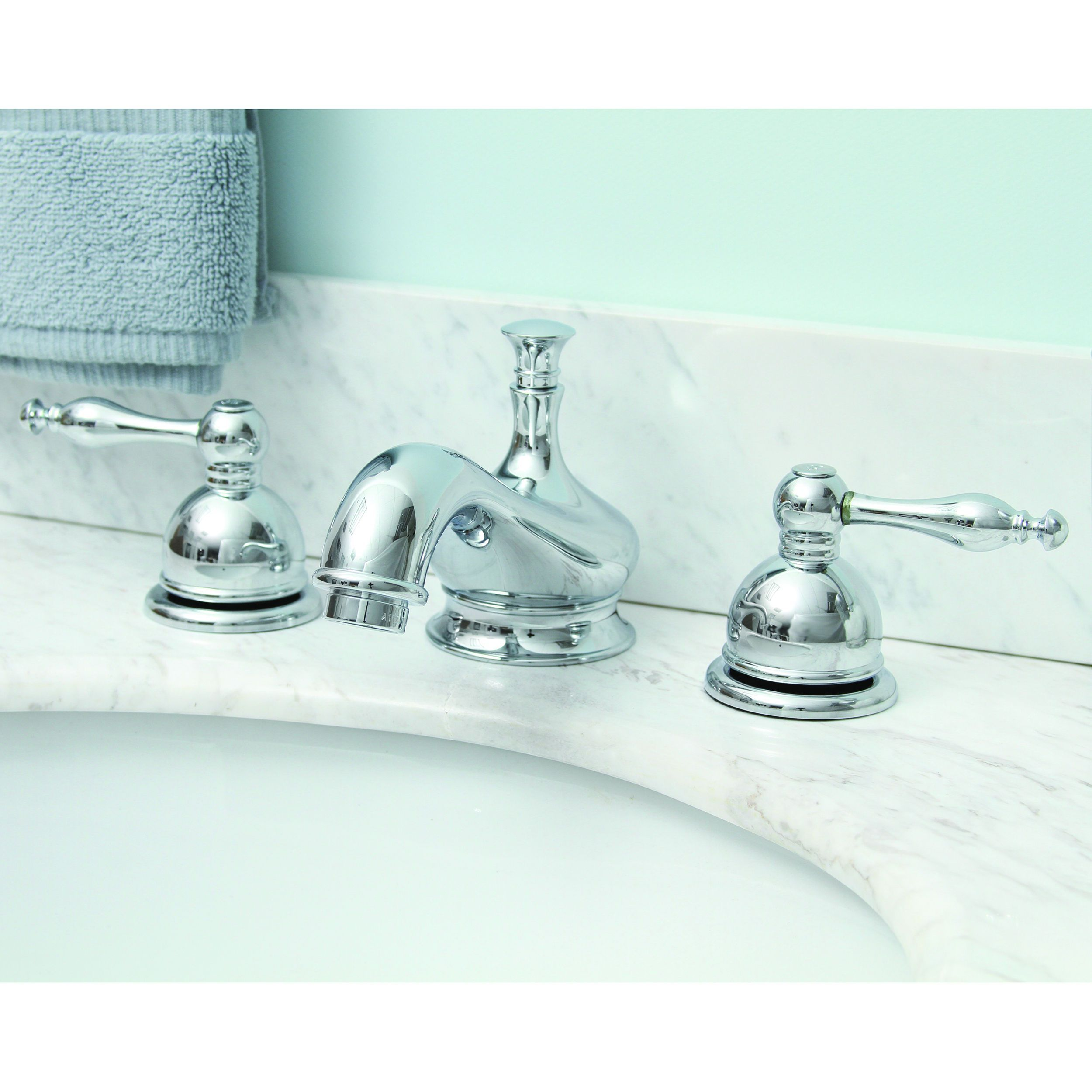 Premier Wellington Lead-free Double-handle Chrome (Grey) Bathroom ...