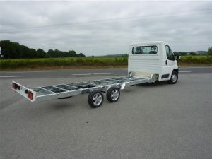 Conversion Of 2 Rear Axles Chassis By Morice Constructeur Amphibious Vehicle Fiat Ducato Welding Trucks