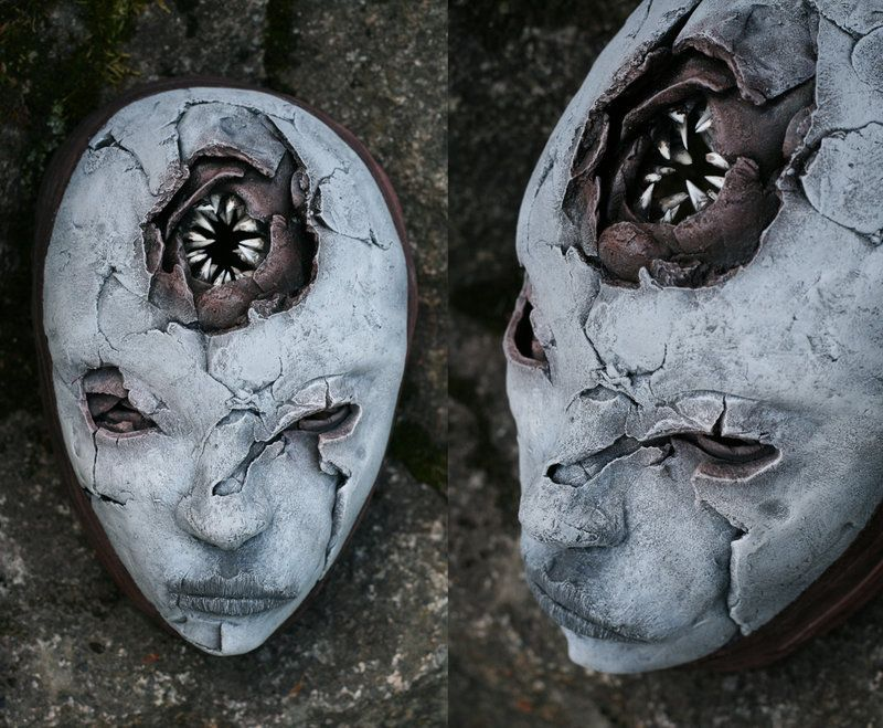 Mask - NEEDLE MOUTH by torvenius.deviantart.com