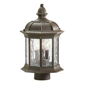 79 00 Kichler Lighting Brunswick 15 35 In H Olde Bronze Post Light Post Lights Lamp Post Lights Outdoor Post Lights