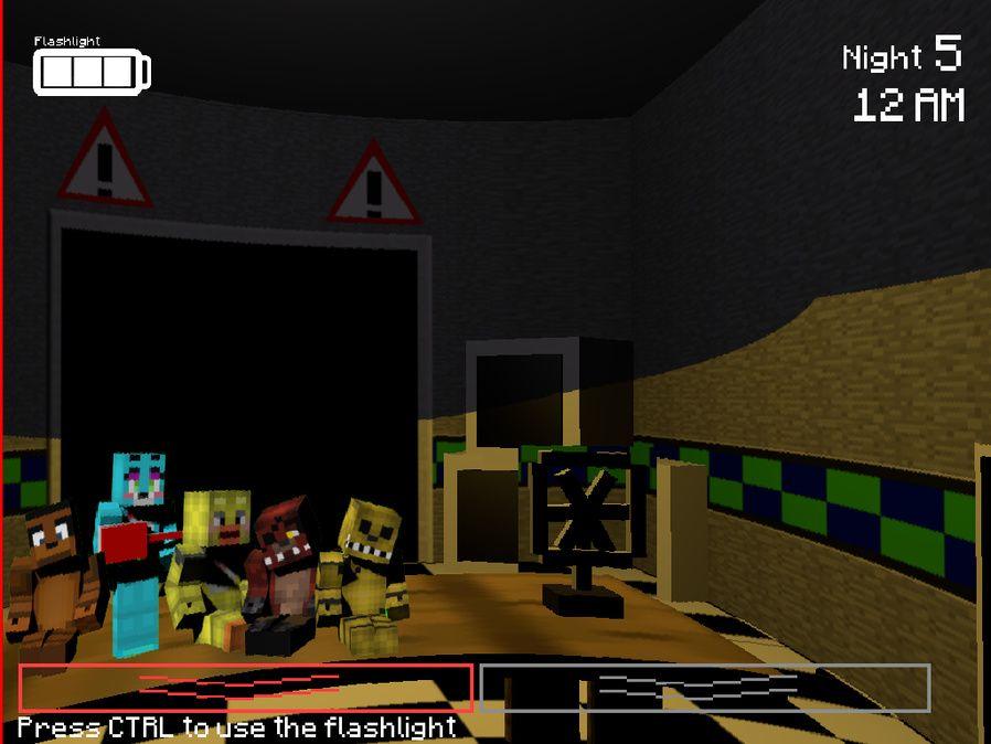 Five Nights In Minecraft An Indie Strategysim Game Game