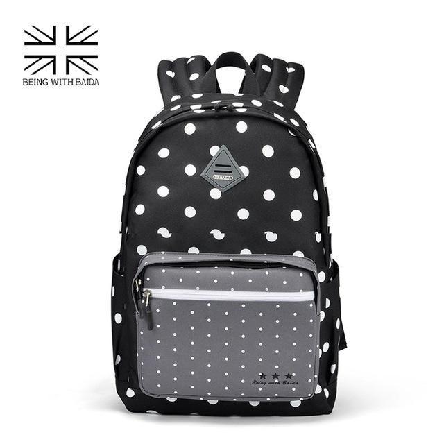 Best Sweet Polka Dots Backpack High Quality